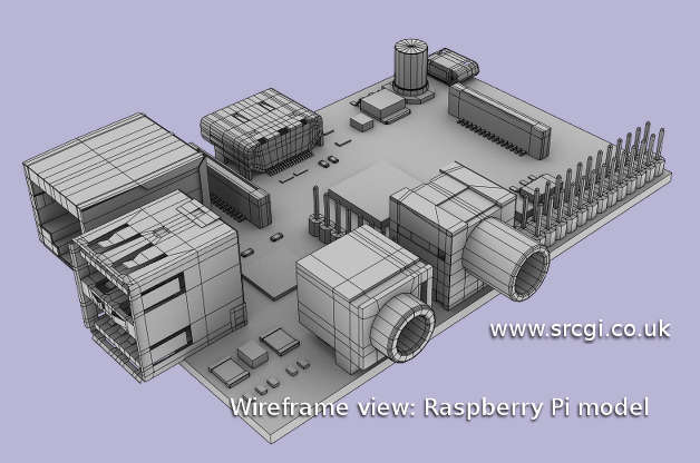 rapberry-pi-3D-model-wireframe
